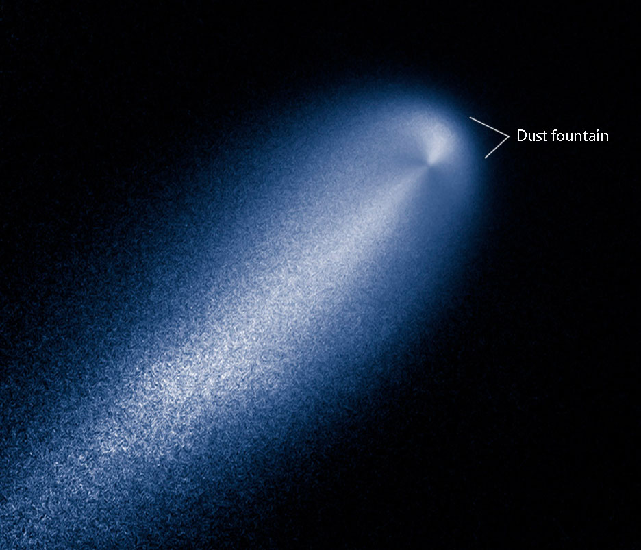 Comet-ISON-Hubble-enhanced