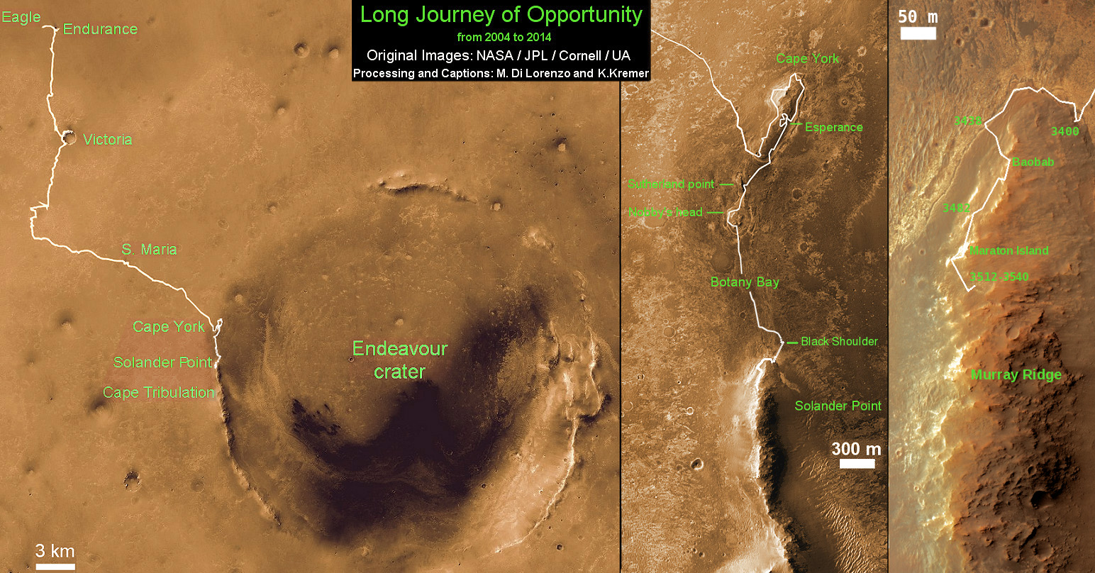 Opportunity-Route-map_Sol-3540_Ken-Kremer