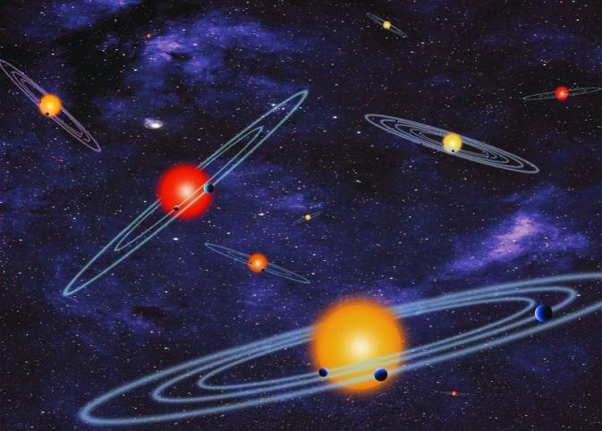 نمایش طرح سیستم منظومه ای ستاره ها در این عکس به خوبی نمایان است