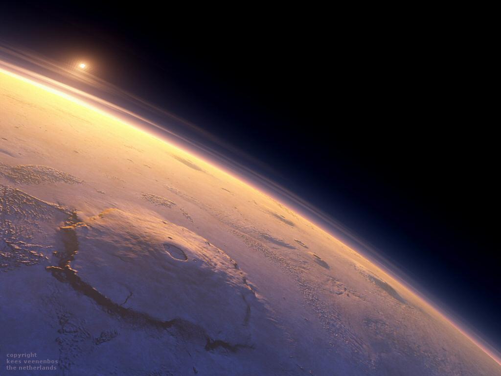 Olympus-Mons-on-Globe_by-Kees-Veenenbos