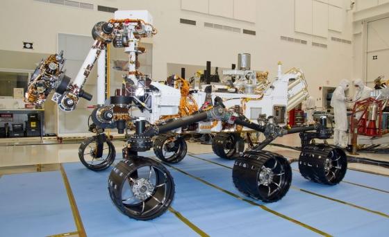تصویری از مریخ نورد کنجکاوی پیش از سفر به مریخ