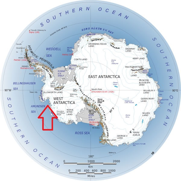 این منطقه ای که در تصویر با فلش نشان داده شده هدف مطالعات دانشمندان بود.
