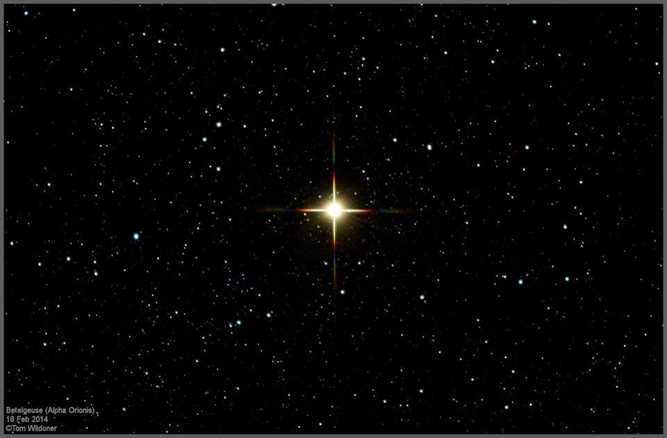 تصویری از ستاره غول پیکر و قرمز Betelgeuse