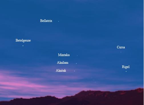 ستارگان صورت فلکی، Alnitak، Alnilam و Mintaka
