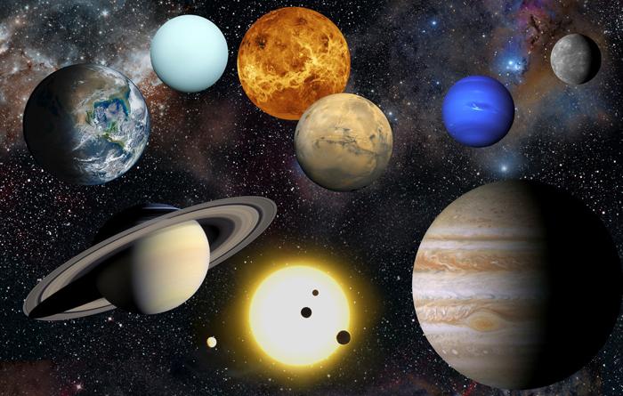 تصویر هنری از سیارات منظومه شمسی. اعتبار عکس: ناسا