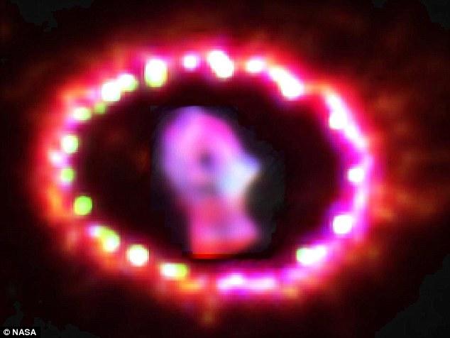تصویری از ابرنواخر1987A SN که این مطالعات از روی ذرات نور آن انجام شده است.