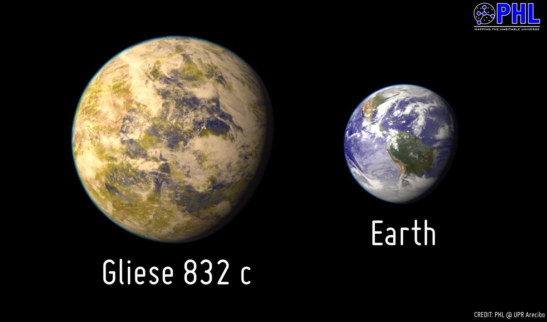 تصویری هنری از سیاره تازه کشف شده Gliese832c که حداقل جرمی 5 برابر سیاره ما دارد.