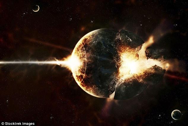 تصویری هنری از سیاره نگون بخت که در مسیر این انفجار پرتوگامای پر قدرت قرار کرفته