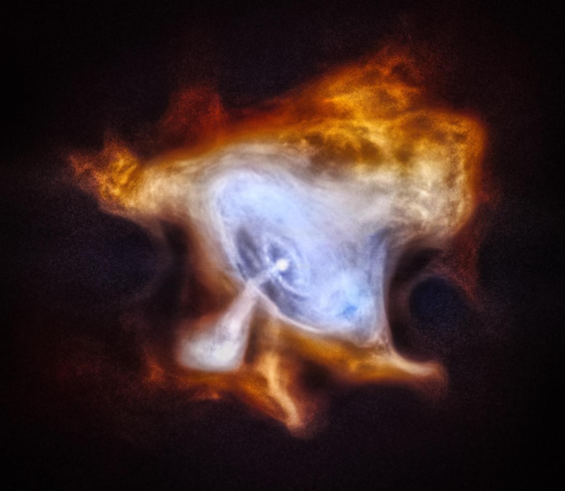 این عکسی از سحابی خرچنگ است که بمناسبت پانزدهمین سالگرد شروع به کار تلسکوپ چاندرا منتشر شده است.