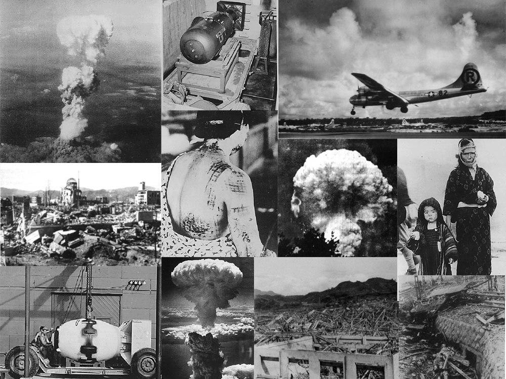 بمب اتم علاوه بر کشتار مردم، بیشتر ناکازاکی ژاپن را تخریب کرد.