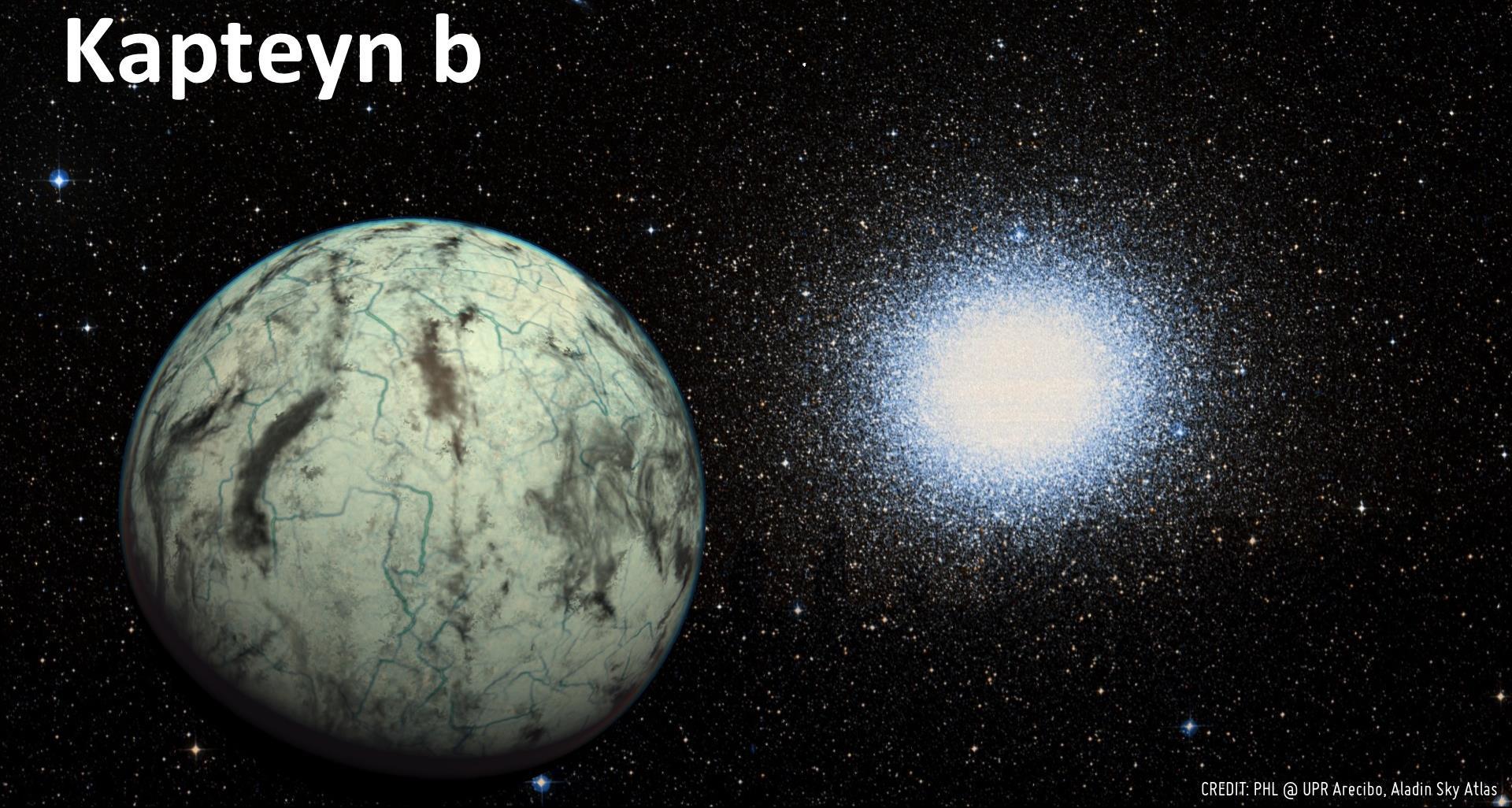 تصویری هنری از سیاره کهن Kapteyn b که فقط 13 سال نوری با زمین فاصله دارد.
