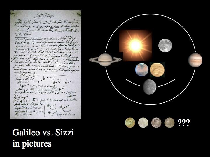 دست خط گالیله از کشفیاتش در مورد اقمار مشتری و تعدادی سیارات منظومه شمسی