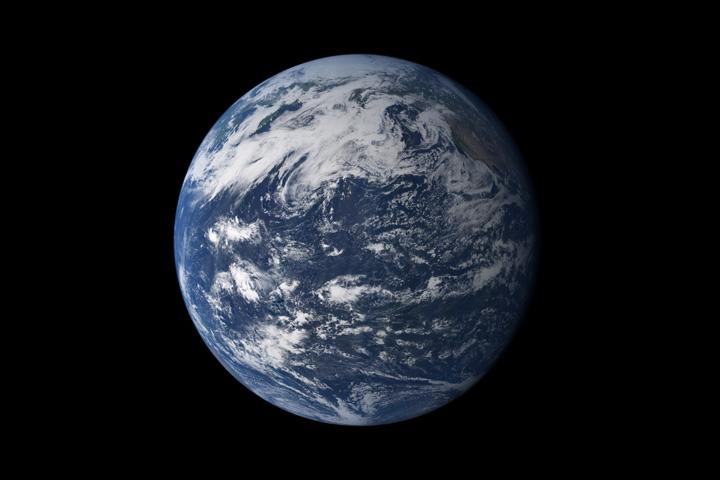 تصویرِ جدیدِ ناسا از زمین که براساس داده های ماهواره MODIS گرفته شده است.