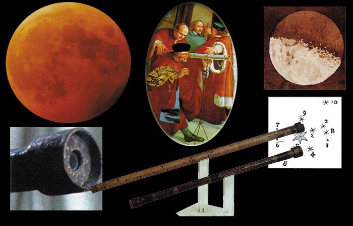 مشاهدات گالیله با تلسکوپ از ماه و سایر اقمار