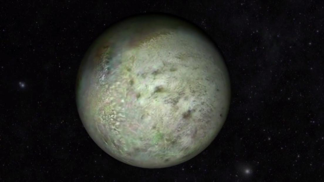 تصویری جدید از تریتون قمر نپتون که از داده های فضاپیمای ویجر 2 که در سال 1989 در حال گذر از این قمر بود تهیه شده است.