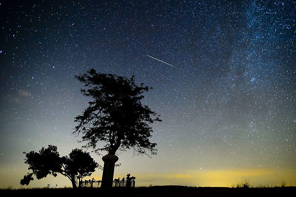 Meteorite of the Perseids meteor shower