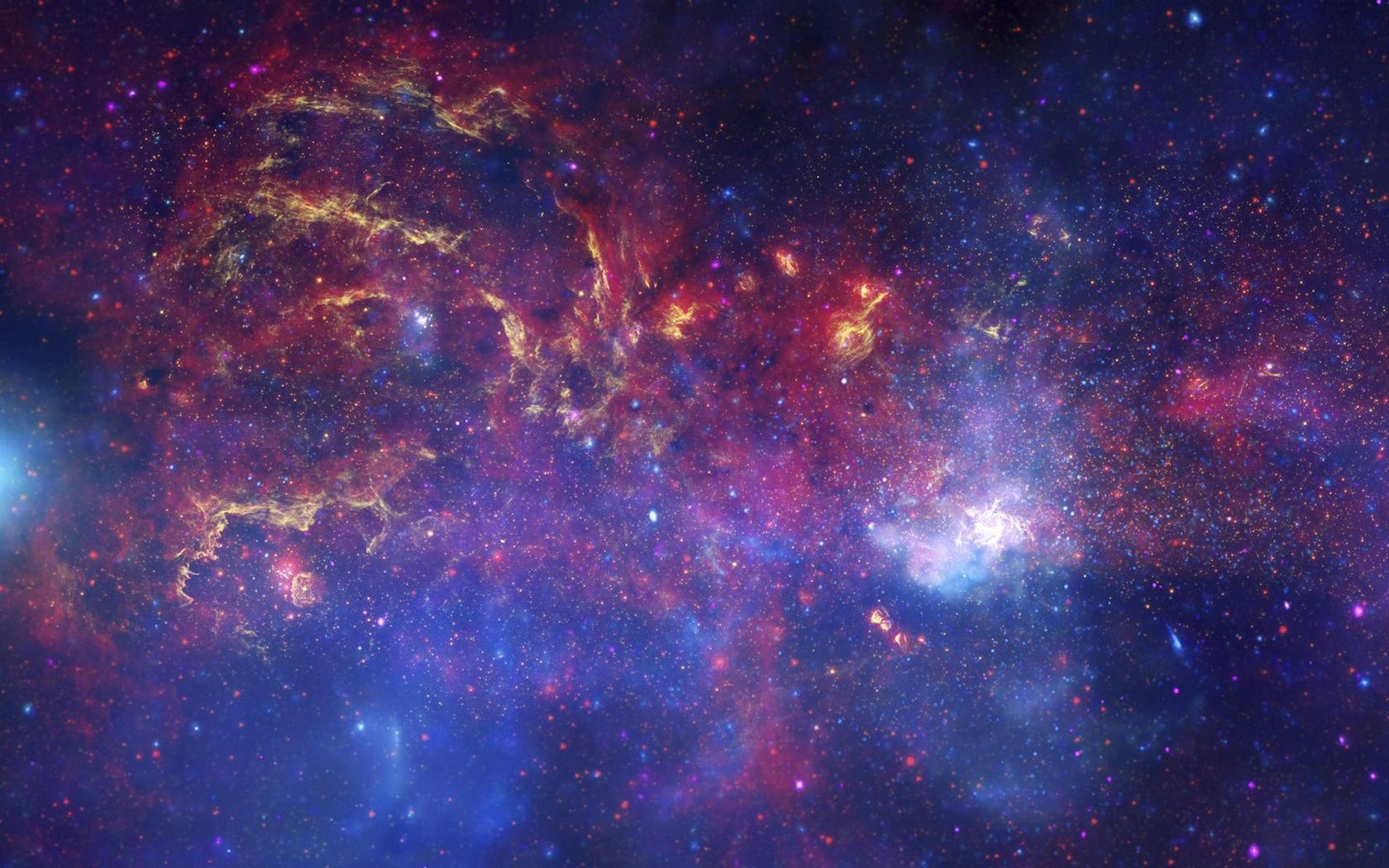 تصویری از ناحیه گازی شکلگیری ستارهای Sagittarius در کهکشان راه شیری