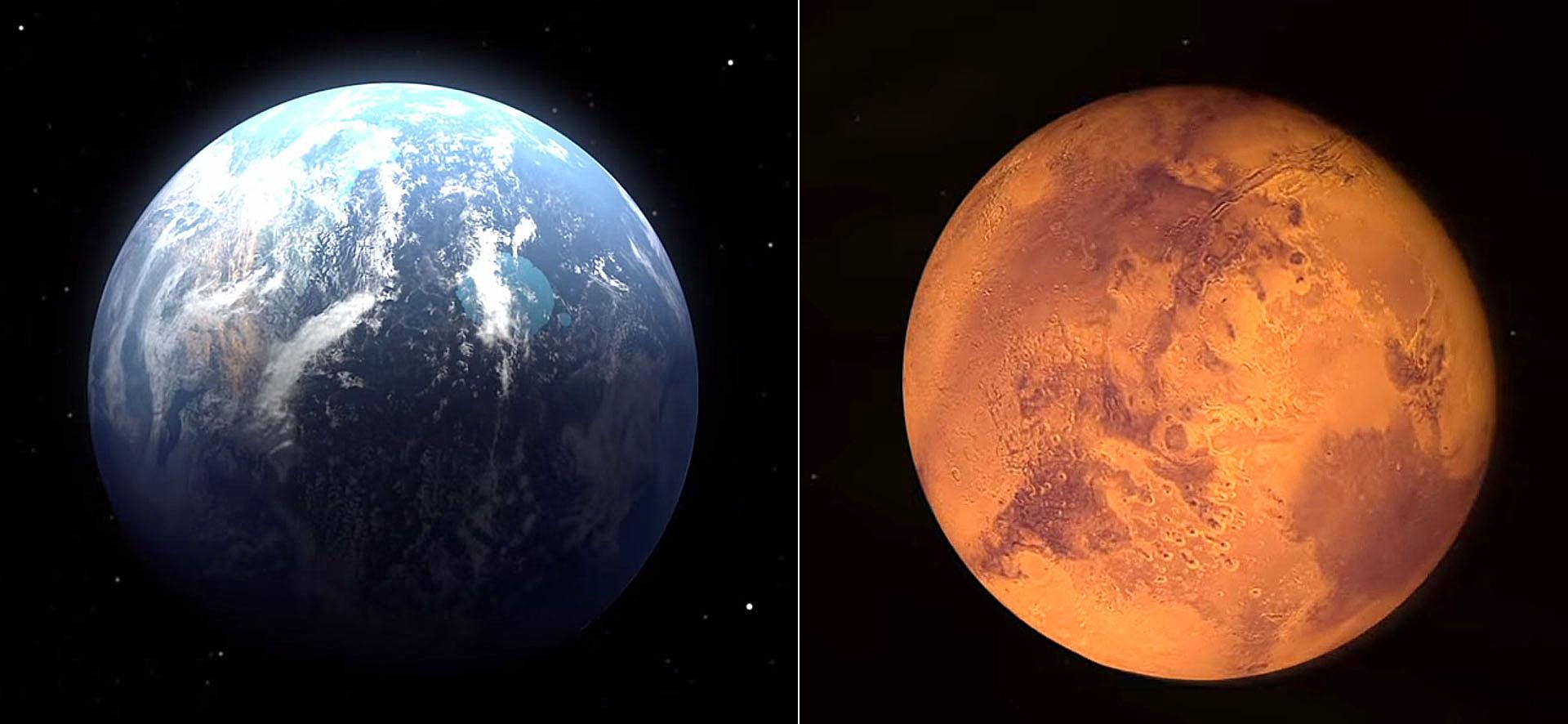 به گفته دانشمندان سه تا چهار میلیارد سال پیش، مریخ با جوی ضخیم تر و جریان آب در سراسر سطحش بسیار شبیه به زمین بود، اما گذشت زمان همه چیز را در این سیاره تغییر داد.