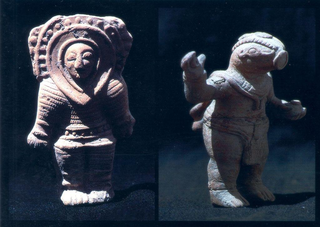 مجسه هایی که به فضانوردان باستانی تشبیه می شود - ساخت مایاها