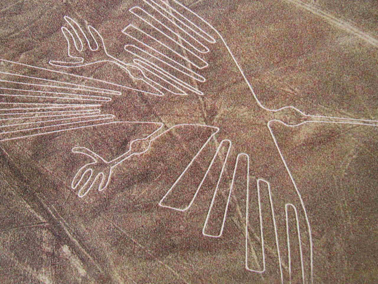 خطوط نازکا(nazcalines): این خطوط عظیم و عجیب در صحرای نازکا، یکی از موارد ادعایی طرفداران بیگانه های باستانی است.