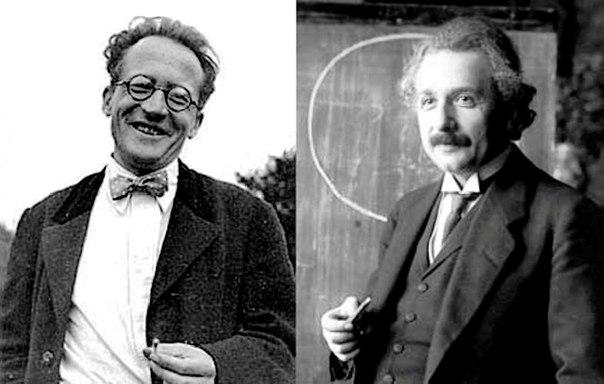 تصویر آلبرت انیشتین و اروین شرودینگر