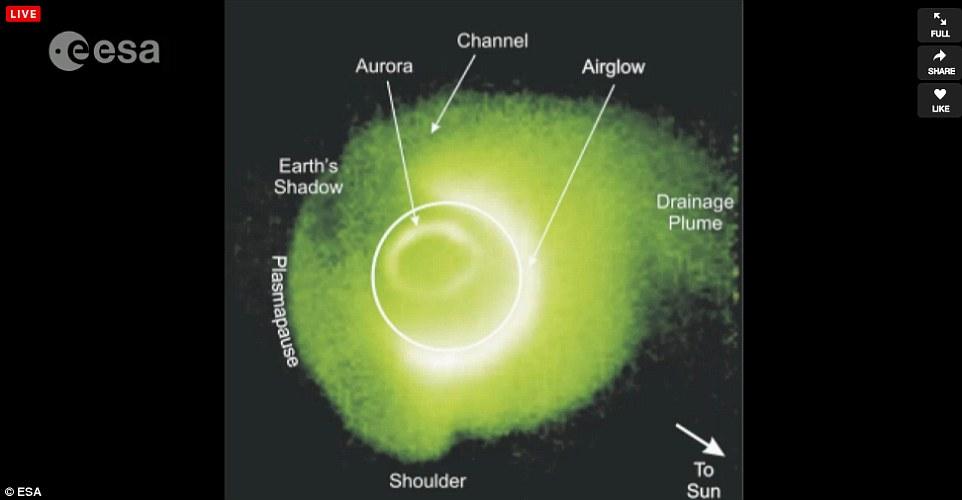 تصویر فضاپیمای روزتا از مشخصههای پلاسمای دنبالهدار چریوموف