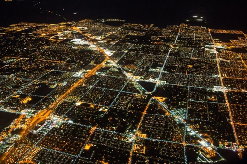 چراغهای روشن لاس وگاس از فضا