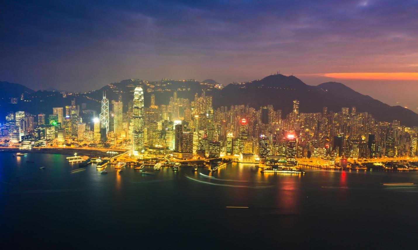 چراغهای روشن  هنگ کنگ و ایجاد آلودگی های نوری