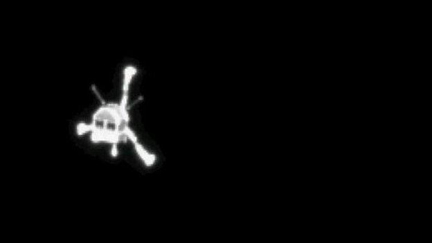 این تصویری است که روزتا از لحظه جدایی فیله ثبت کرده است.