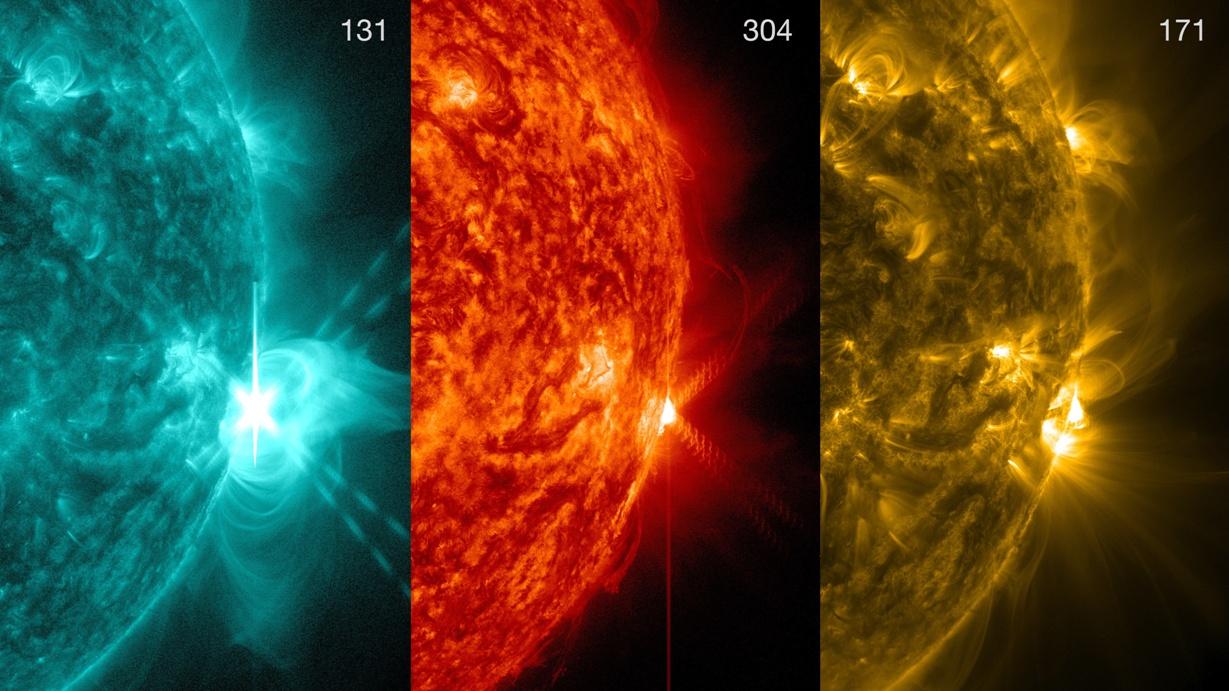 در این تصویر انفجار عظیم شراره ای در کلاس بندی X را از نمای نزدیک مشاهده می کنید.