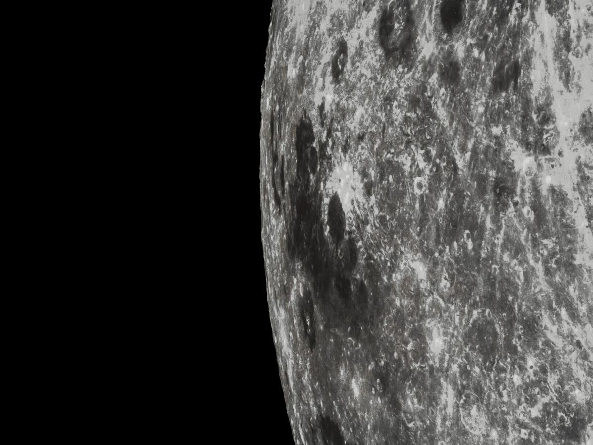 تصویری بسیار نزدیک از منطقه ی دریای ماه که طی این ماموریت به ثبت رسید.