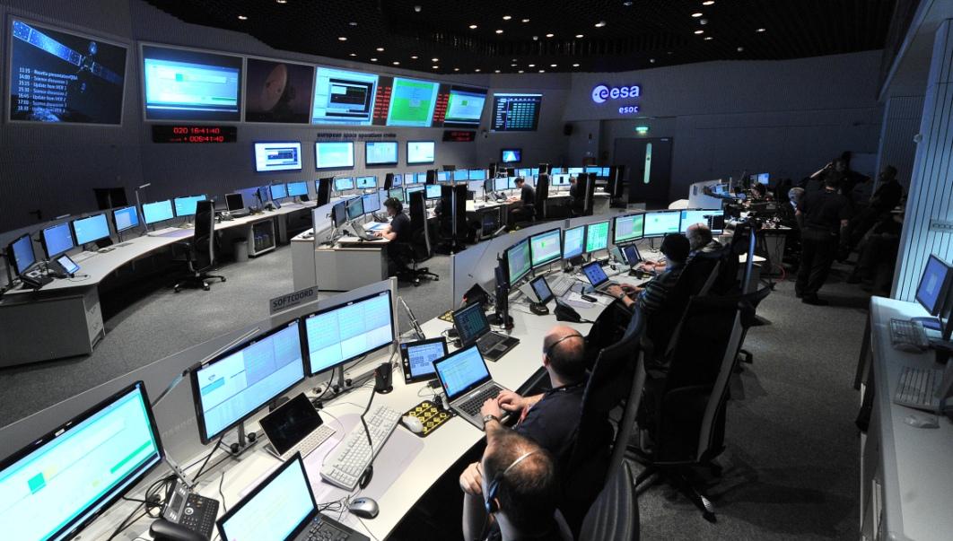 تصویری از اتاق کنترل فضاپیمای روزتا
