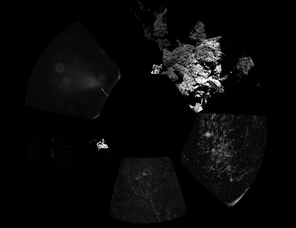 نخستین عکس 360 از سطح دنباله دار که کاوشگر فیلای به ثبت رساند.