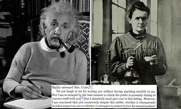 آلبرت اینشتین در نامه ای که در سال 1911 برای ماری کوری نوشته است، وی را در خصوص انتقادات شورای نظارت نصیحیت کرده است.