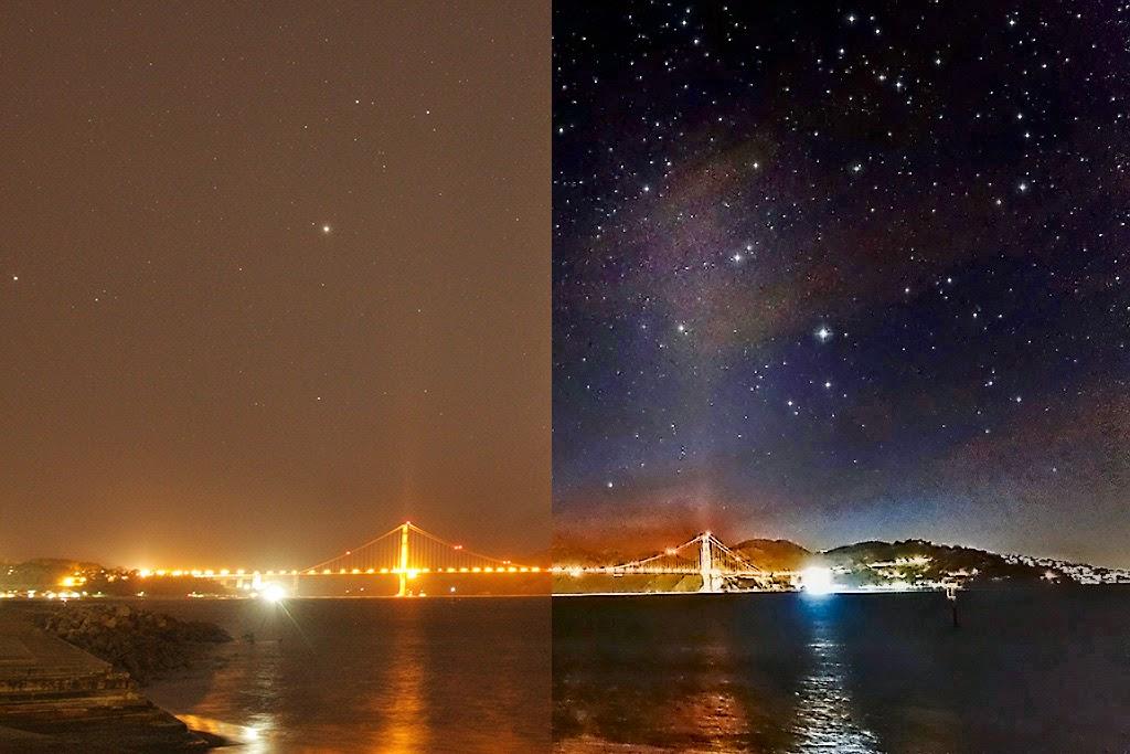 عکاسی از اجرام آسمانی با وجود نورهای زیاد شهرها بسیار دشوار است.