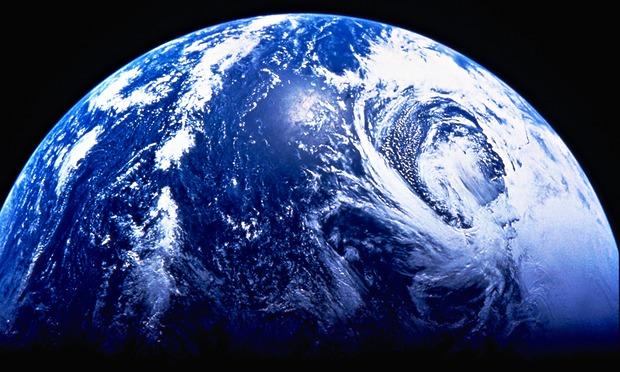 نمای زیبای زمین از فضا