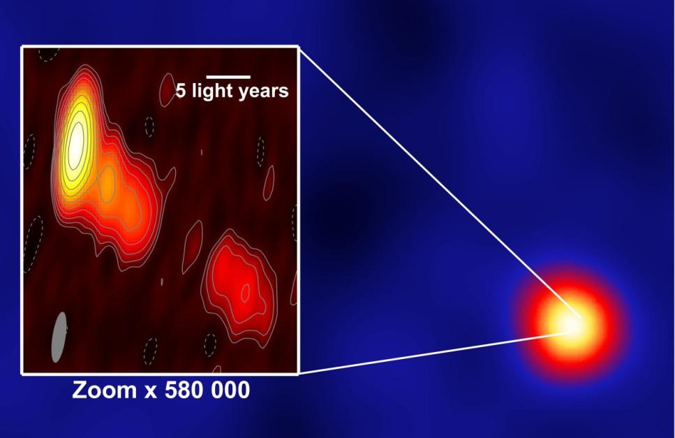 دانشمندان در مرکز کهکشان IC 310 سیاهچاله ای سوسوزن و درخشان را مشاهده کردند.