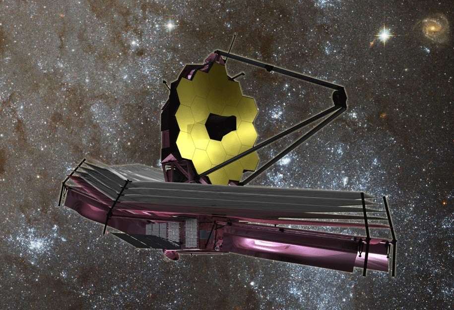 تصویری هنری از تلسکوپ فضایی جیمز وب جانشین تلسکوپ هابل