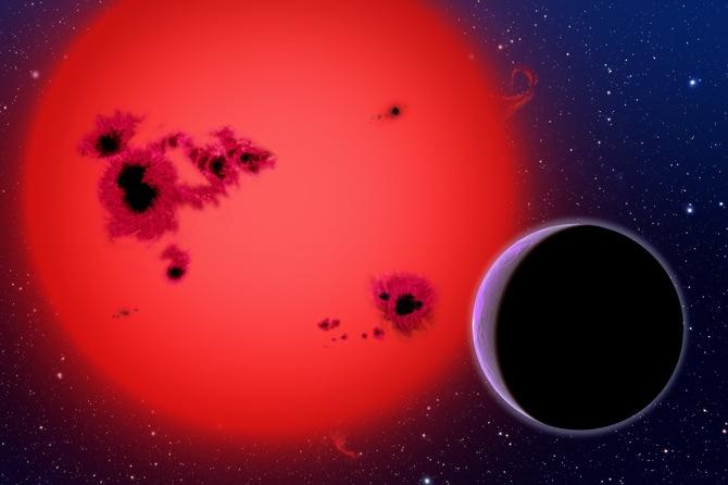 تصویری هنری از سیاره ای فرا خورشیدی در نزدیکی ستاره اش