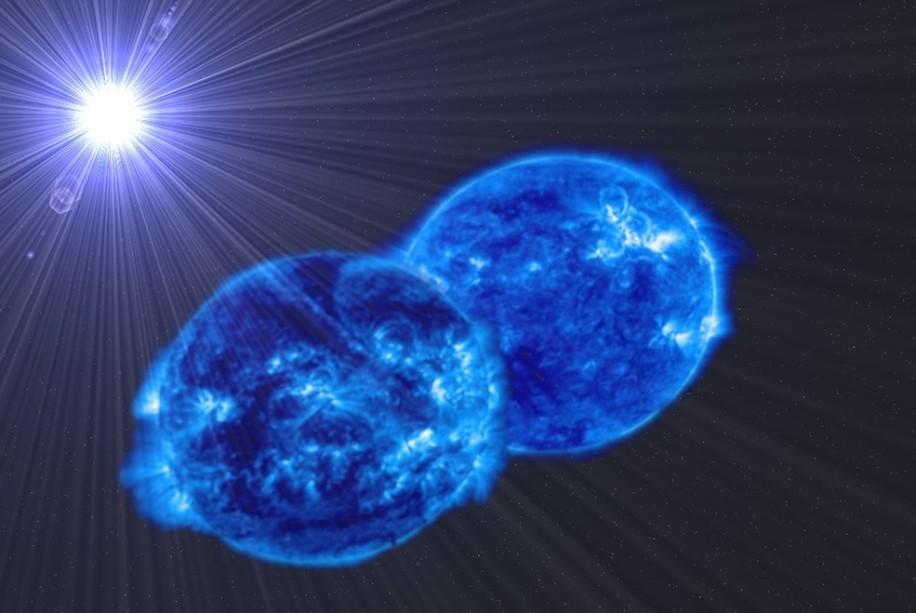 تصویری خیالی از سیستم ستاره ای مورد بحث