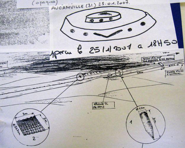 طرحی از اجرام ناشناس در پرونده های اداره یوفو شناسی فرانسه