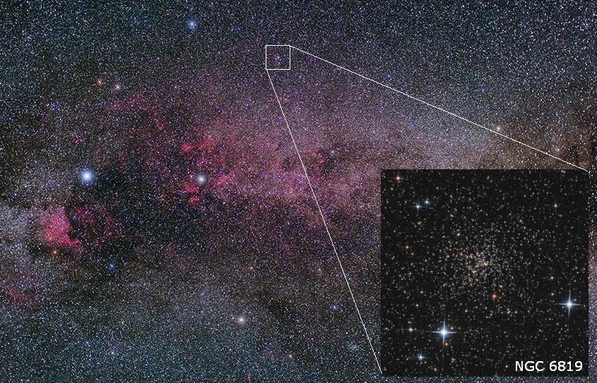 تصویری از خوشه ی ستاره NGC 6819 که در صورت فلکی قو واقع شده است.