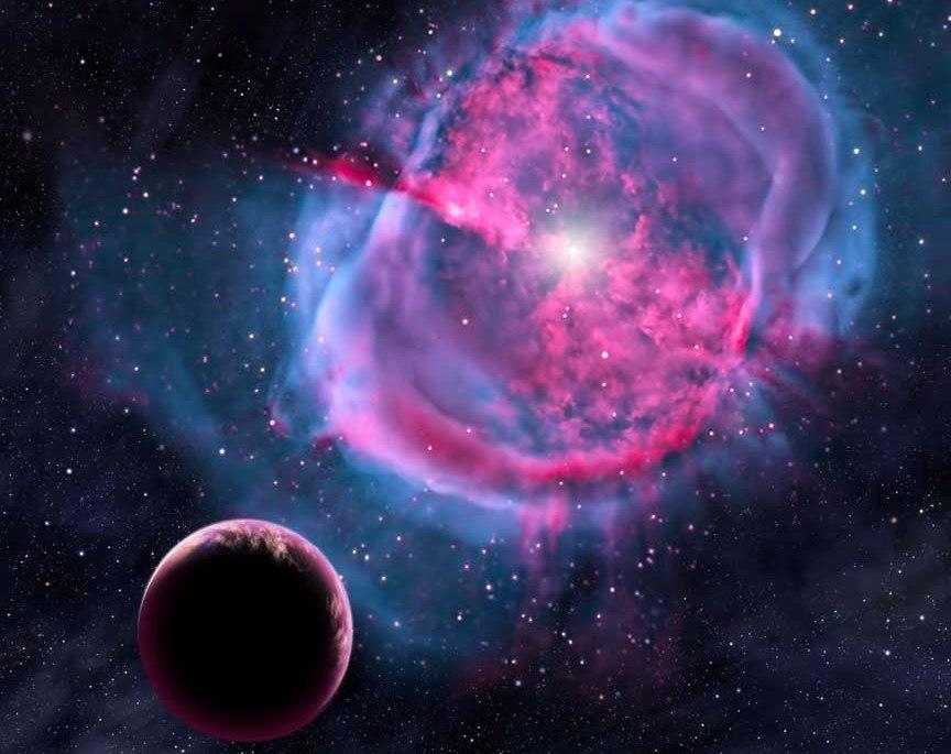 تصویری هنری از شکل گیری سیارات در سحابی ستاره ای