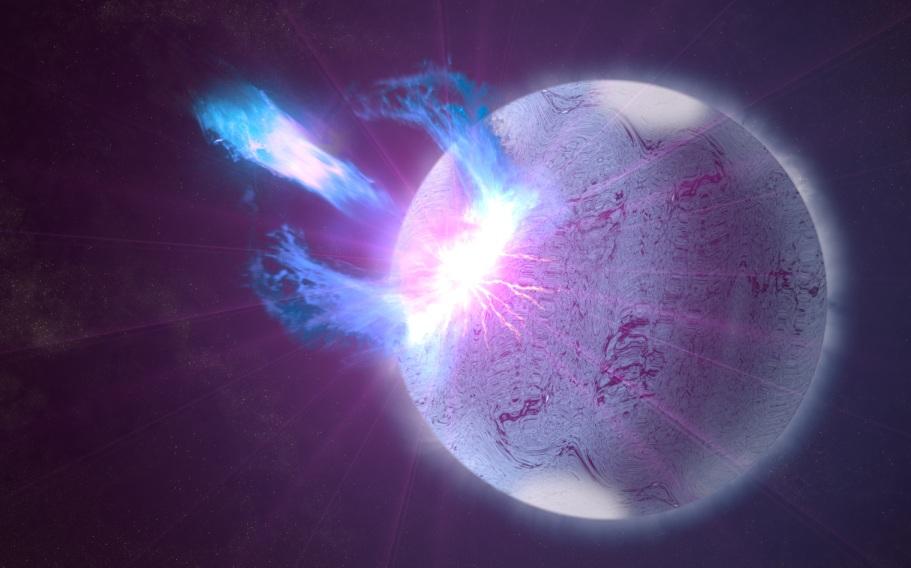 """تصویری هنری از غرش ناگهانی یک ستاره: به گفته ی محققان """"ستاره لرزهها"""" از احوال درونی ستارهها خبر می دهند."""