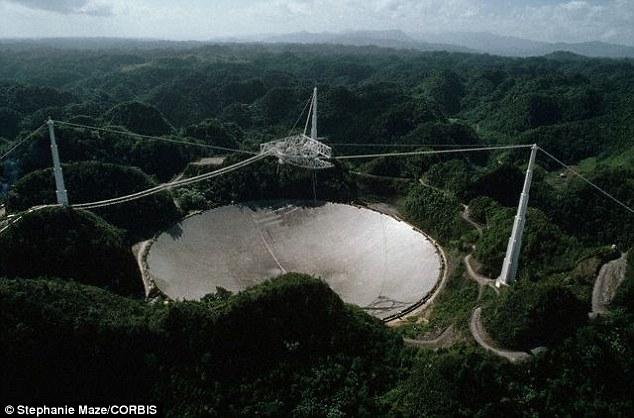 تصویری از تلسکوپ رادیویی آرسیبو