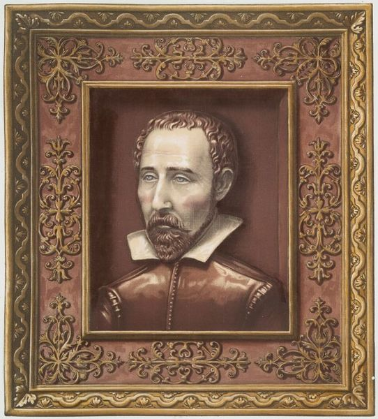 برنارد پالیسی چهره اش را در یک سفال نقاشی کرد.