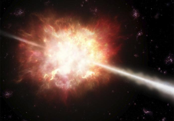 تصویری هنری از انفجار یک ستاره
