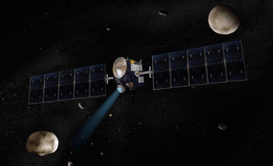 تصویری هنری از فضاپیمای سپیده دم