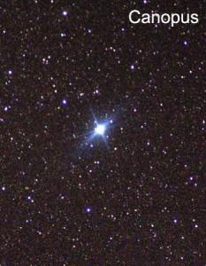 تصویری از ستاره ی سهیل (Canopus)