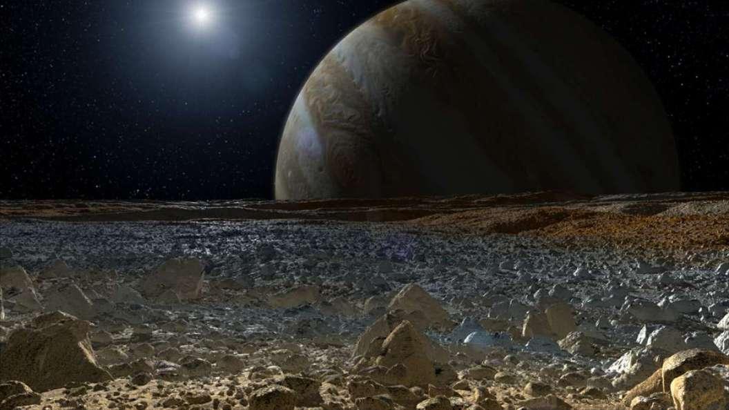 تصویر هنری مشتری از روی قمر اروپا